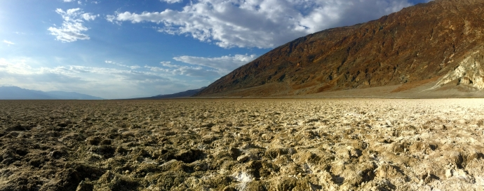 Badwater Basin, lowest point of elevation in North America.