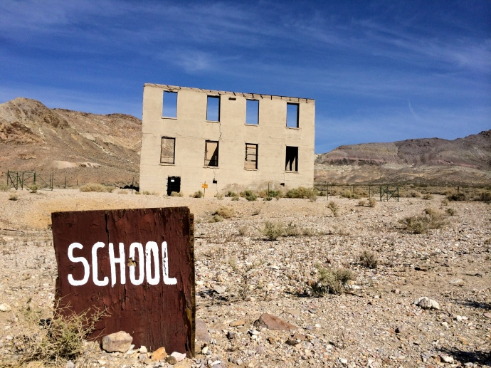 Rhyolite, Nevada. School building.