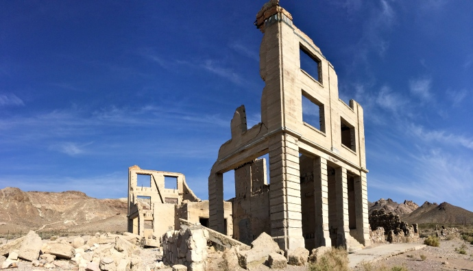 Rhyolite, Nevada. Cook Band building.