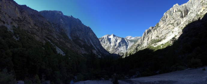 Right before Mist Falls, looking back at Buck Peak