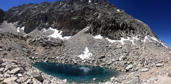 Ice blue lakes coming down from Glen Pass