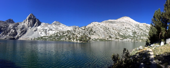 Rae Lake with Glen Pass in the background