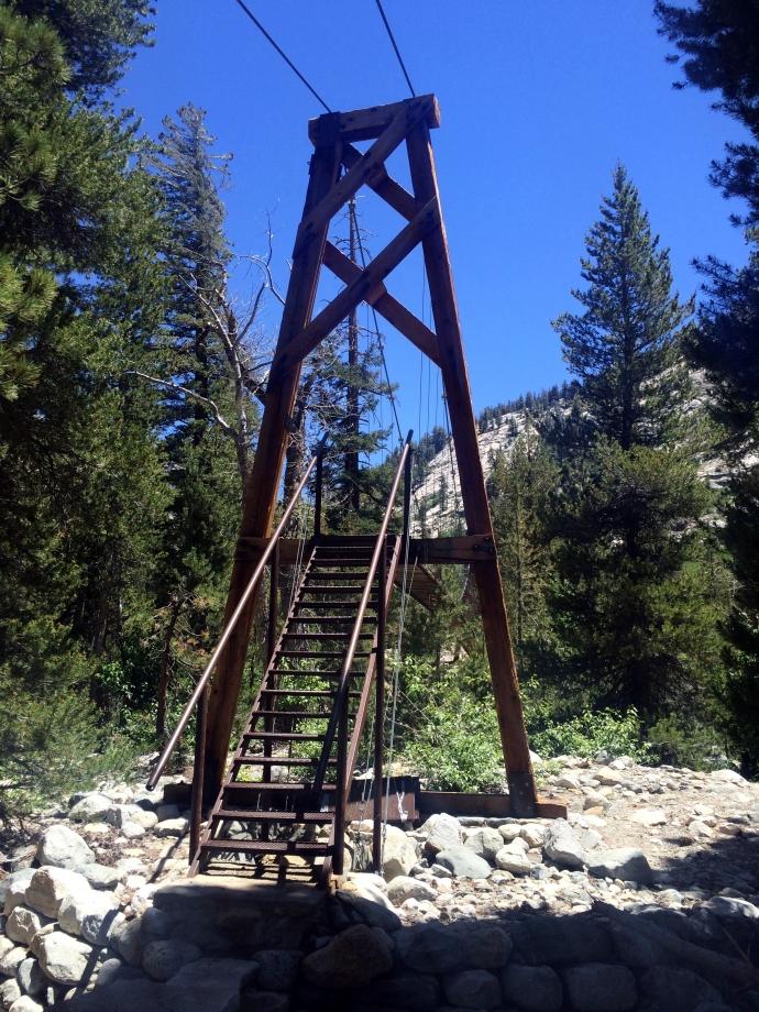 Rae Lakes Loop Woods Creak Suspension Bridge